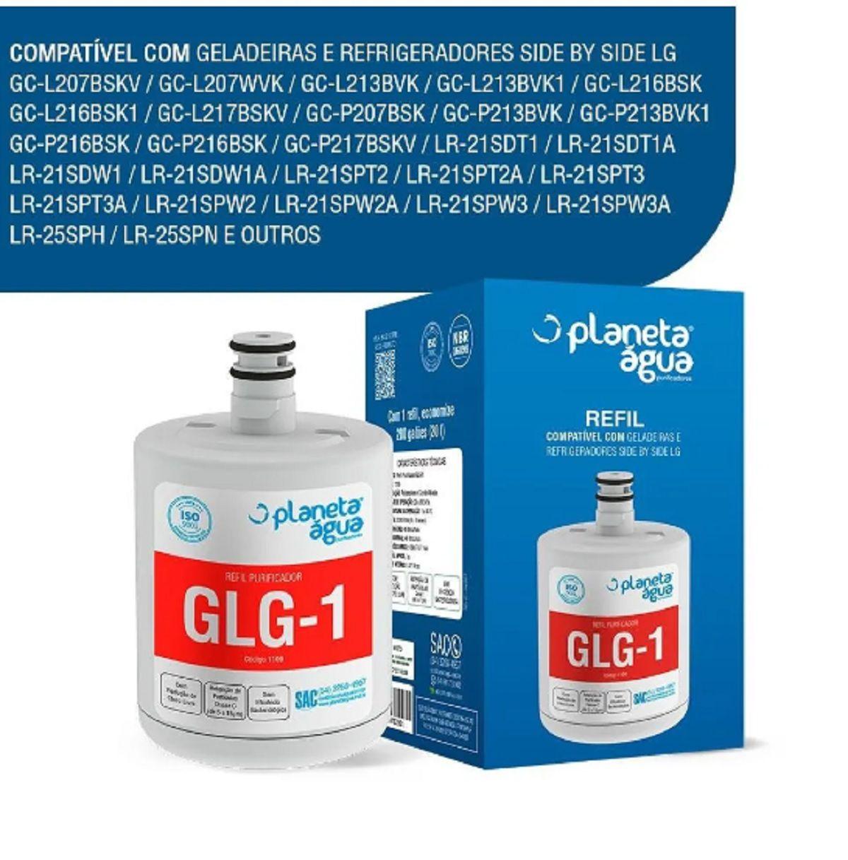 Refil Filtro Geladeira Refrigerador LG GLG-1 Lt500p - Planeta Água