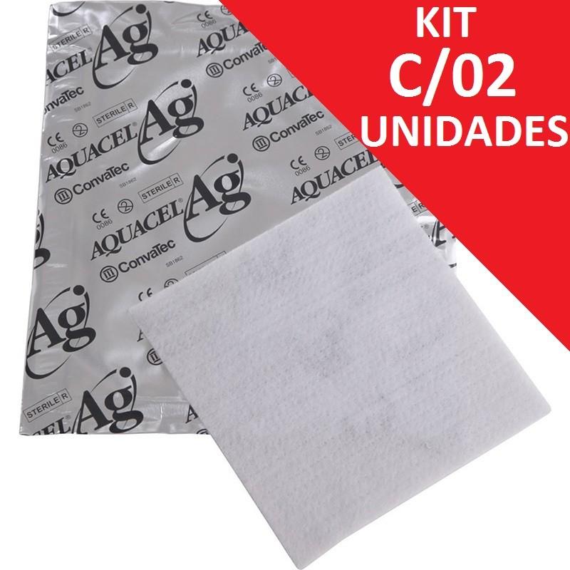 Aquacel AG ( com prata ) 10x10 02 unidades - Convatec