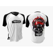 Camiseta Regis Racing 15 Anos Branca/Preta