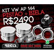 Kit Pistão + Biela - Pistao AFP p/ 800cv VW AP + Bielas R. Racing VW AP 144mm p/ 1000cv