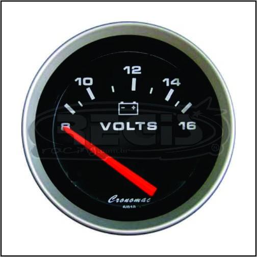 Voltimetro eletrico 52mm Sport cronomac