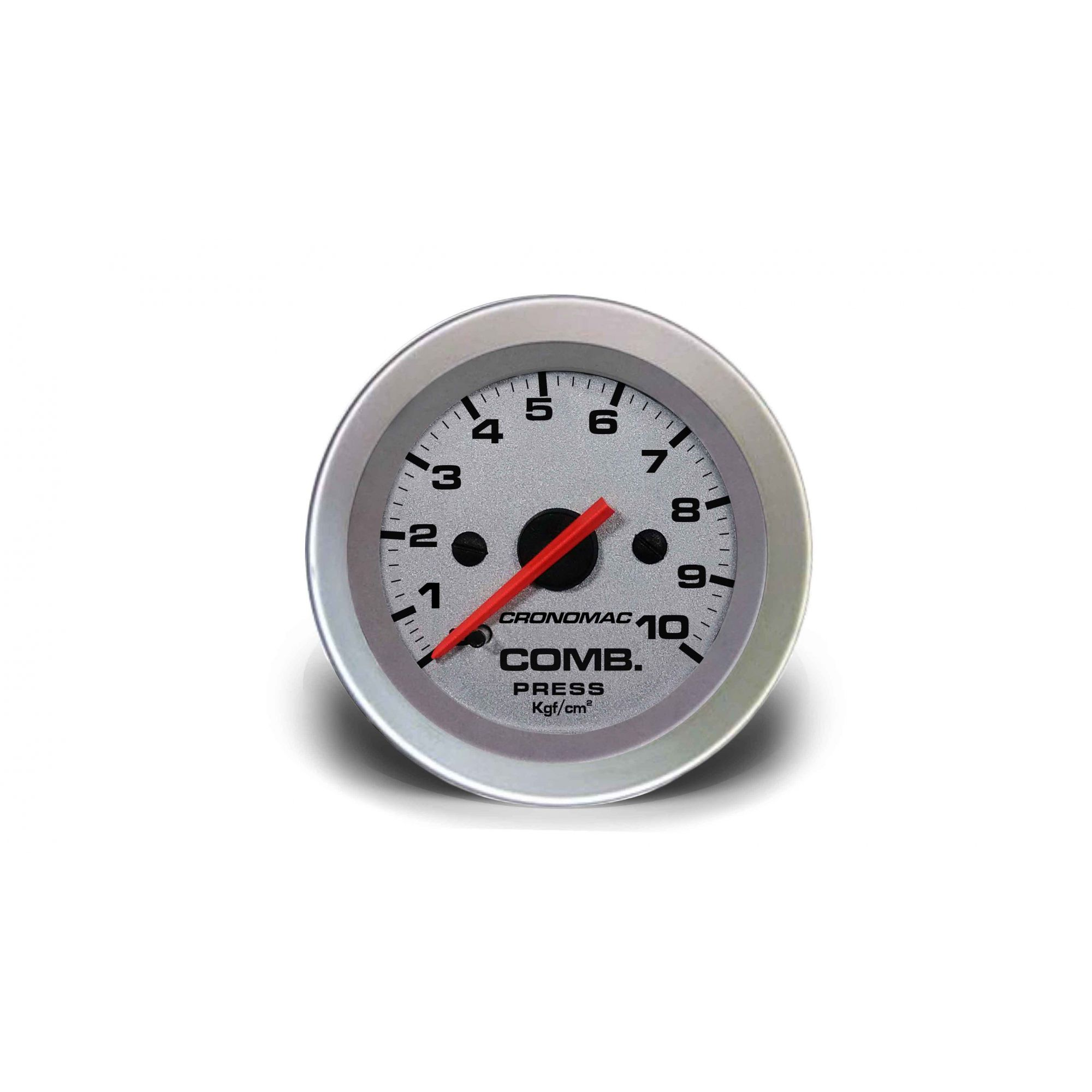 Relogio Pressao de Comb. 10kg Racing 52mm Cronomac