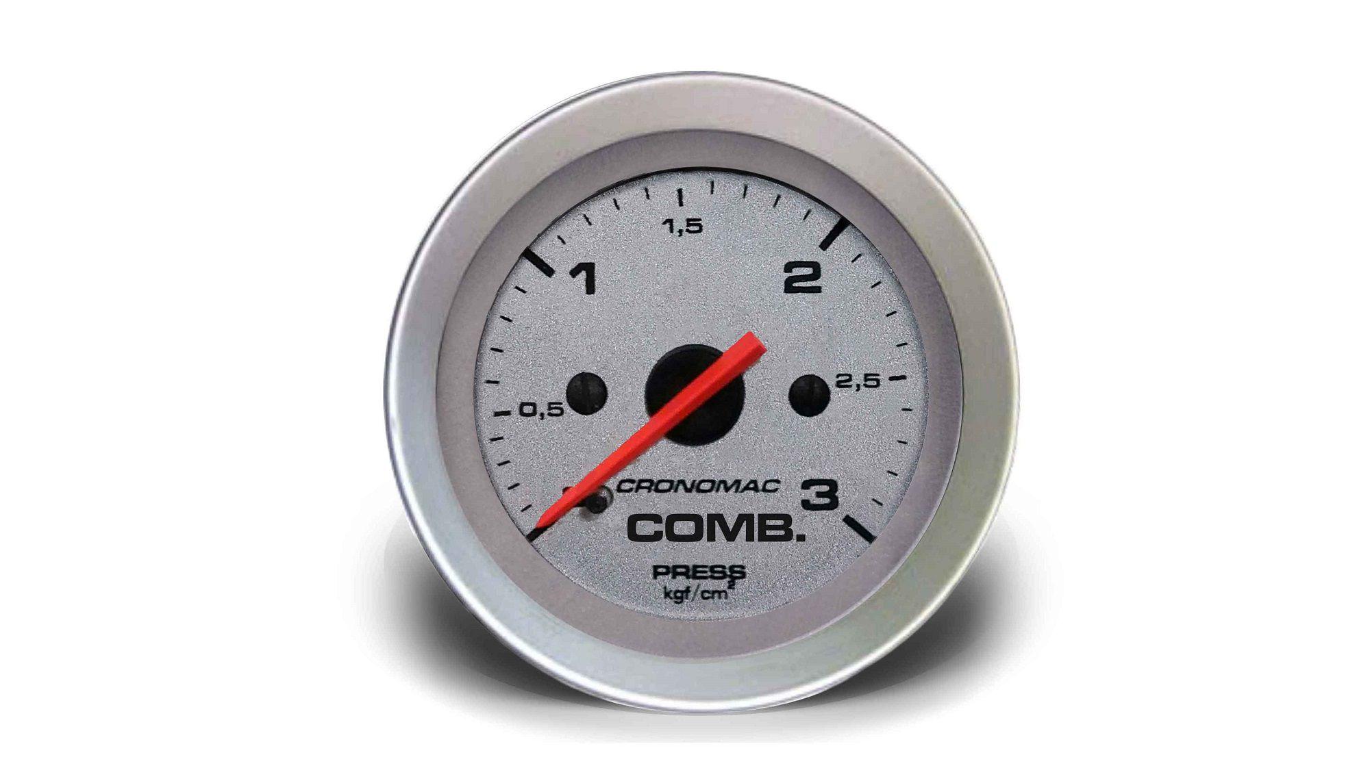 Relogio Pressao de Comb. 3kg Racing 52mm Cronomac