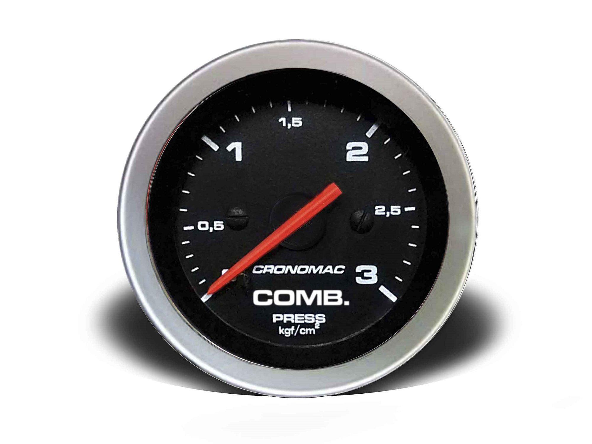 Relogio Pressao de Comb. 3kg Sport 52mm Cronomac