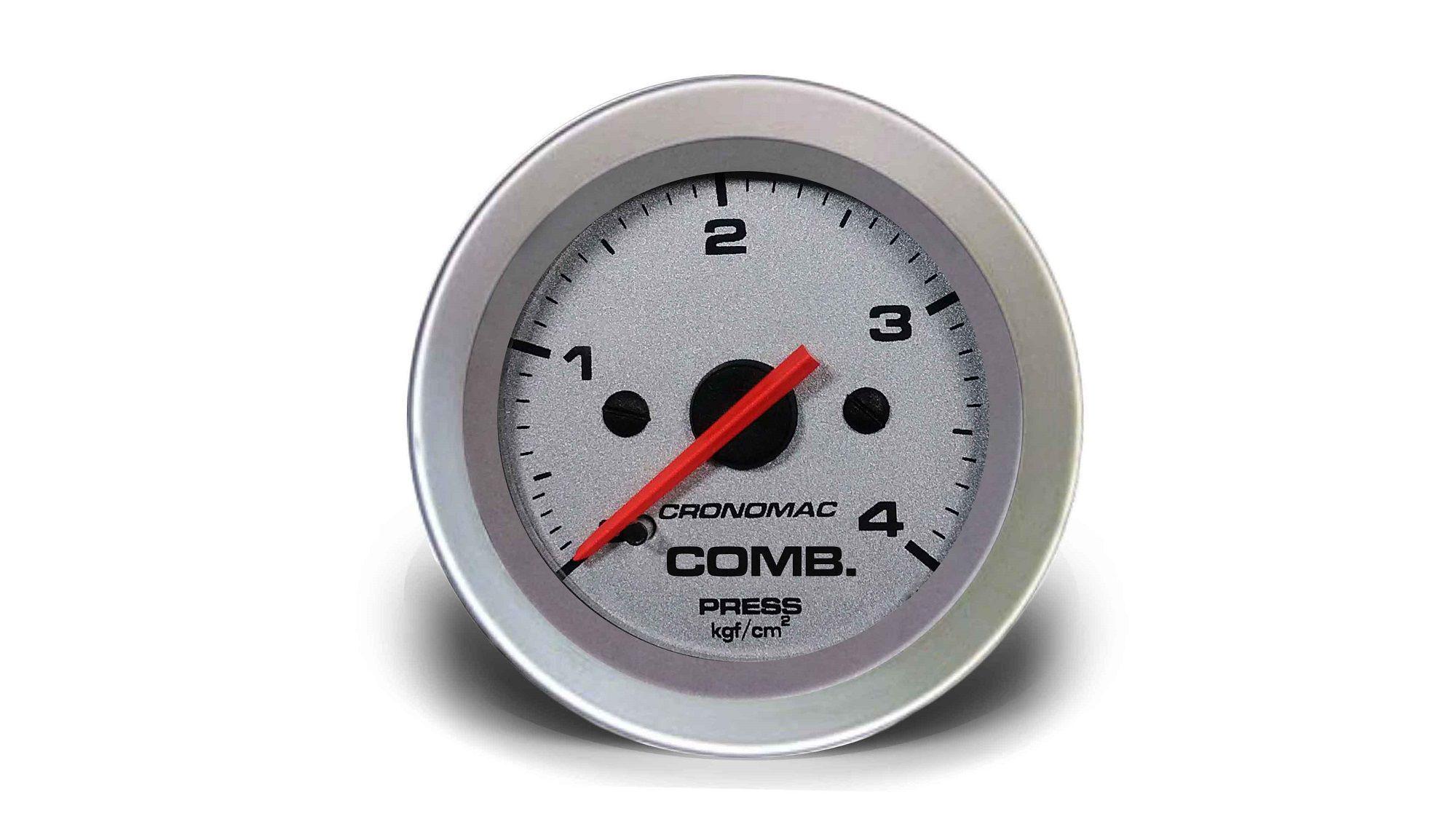 Relogio Pressao de Comb. 4kg Racing 52mm Cronomac