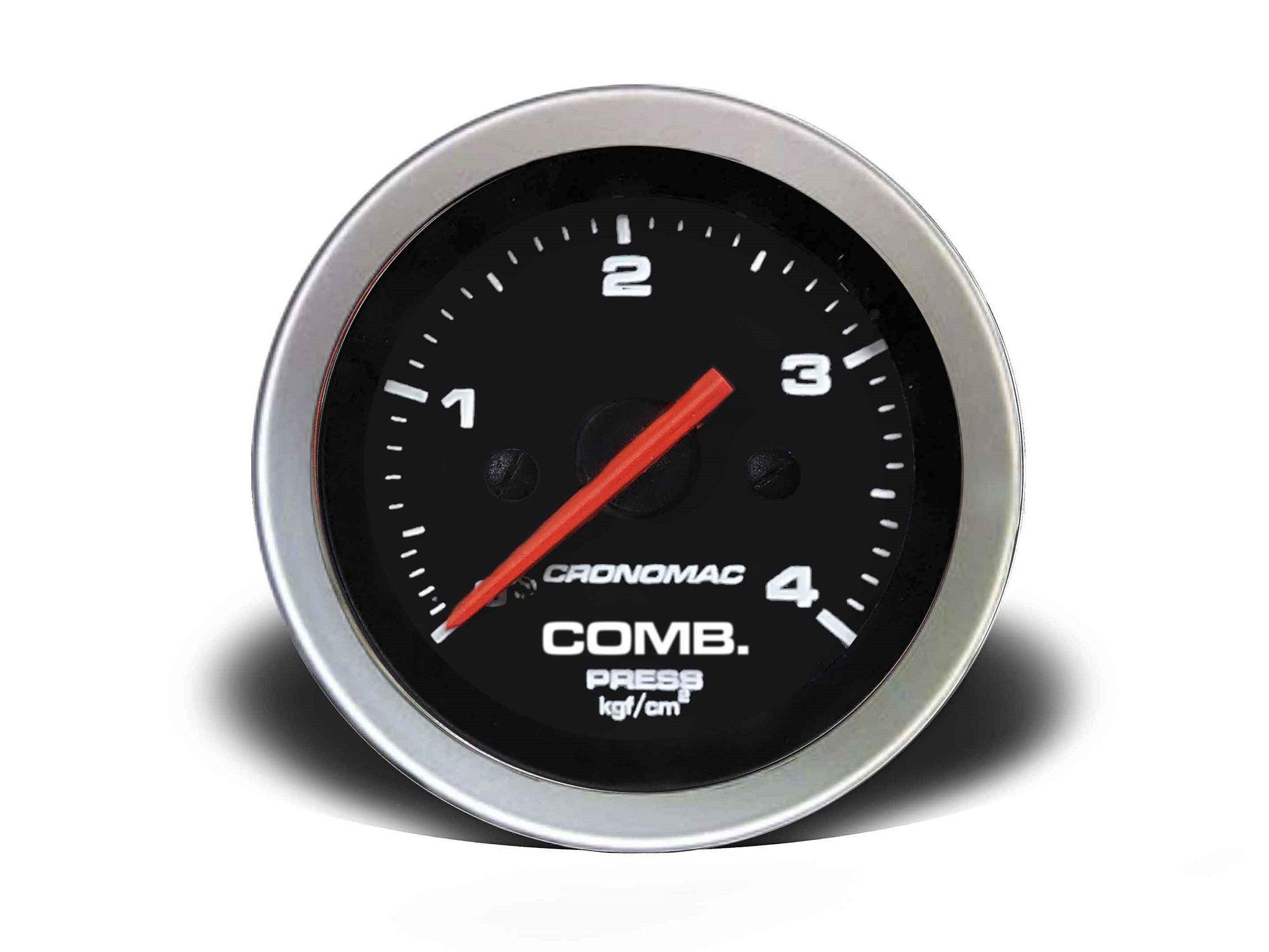Relogio Pressao de Comb. 4kg Sport 52mm Cronomac