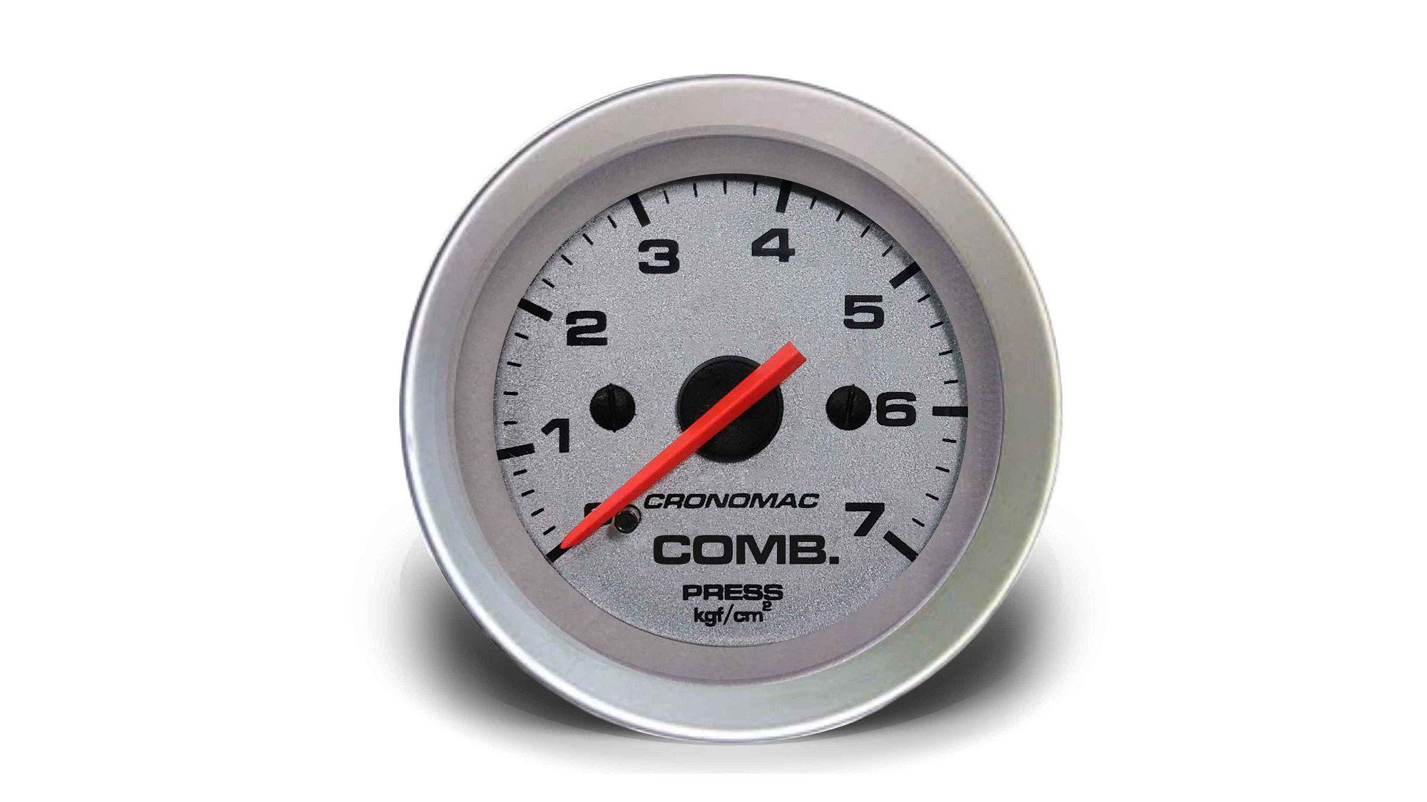 Relogio Pressao de Comb. 7kg Racing 52mm Cronomac