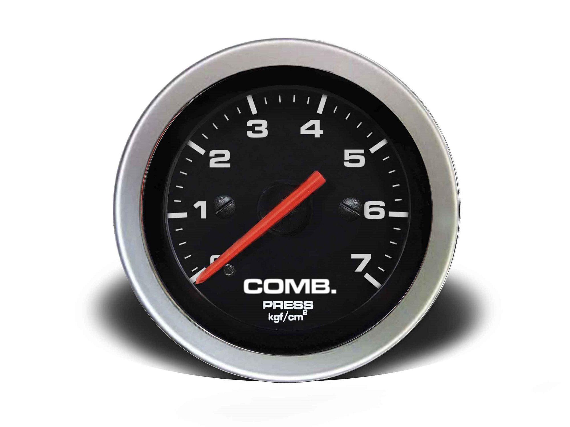 Relogio Pressao de Comb. 7kg Sport 52mm Cronomac
