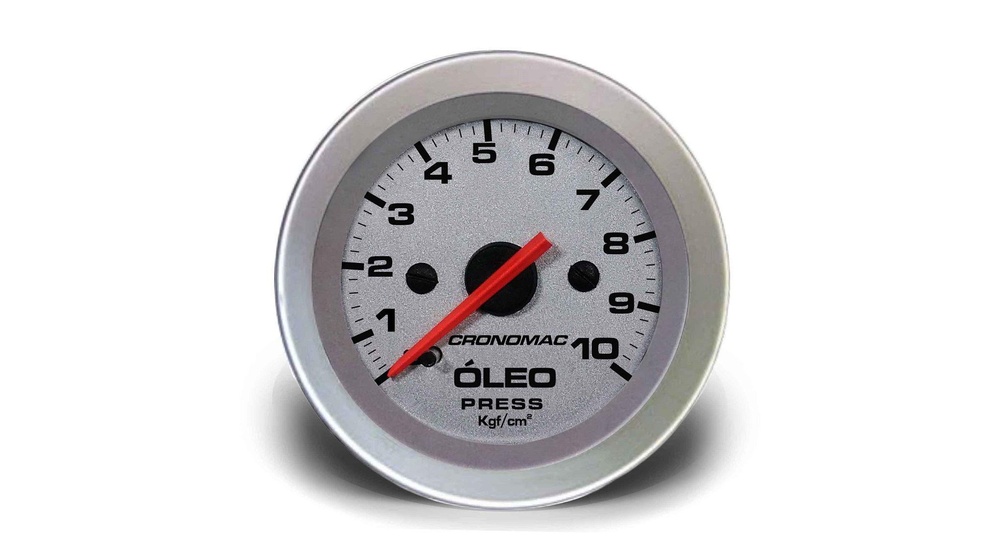 Relogio Pressao de Oleo 10kg Racing 52mm Cronomac