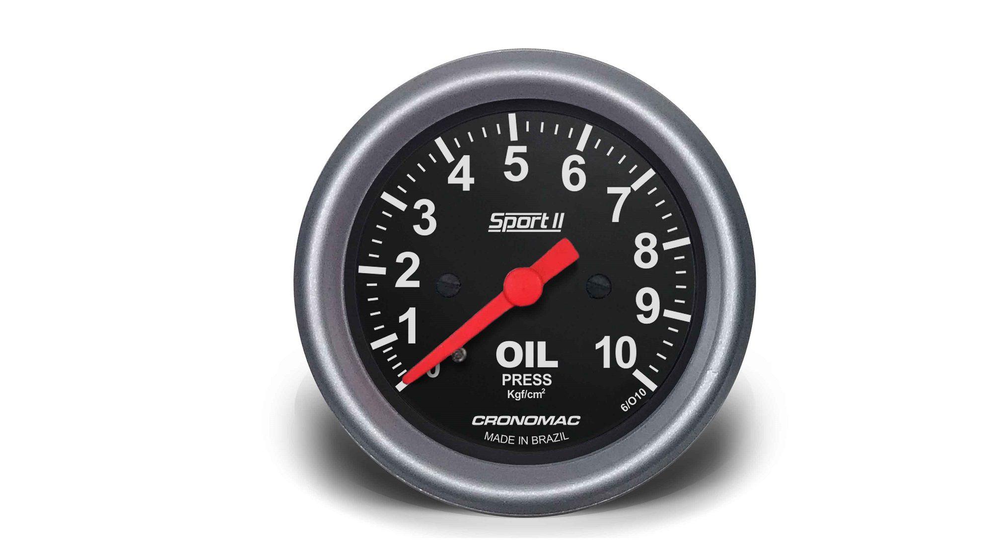 Relogio Pressao de Oleo 10kg Sport II 60mm Cronomac