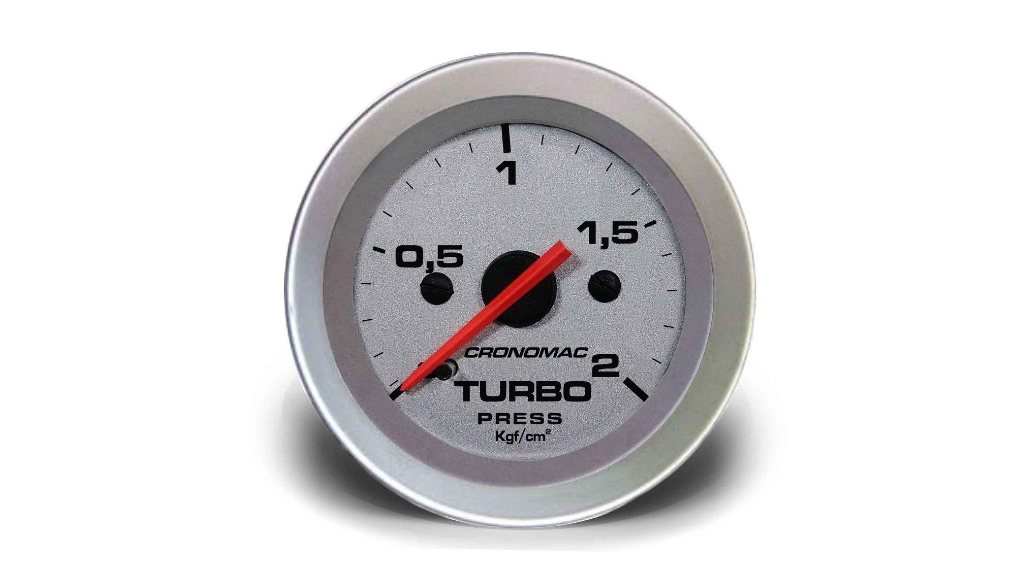 Relogio Pressao de Turbo 2kg Racing 52mm Cronomac