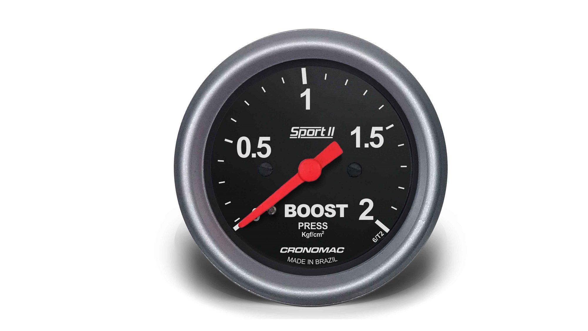 Relogio Pressao de Turbo 2kg Sport II 60mm Cronomac