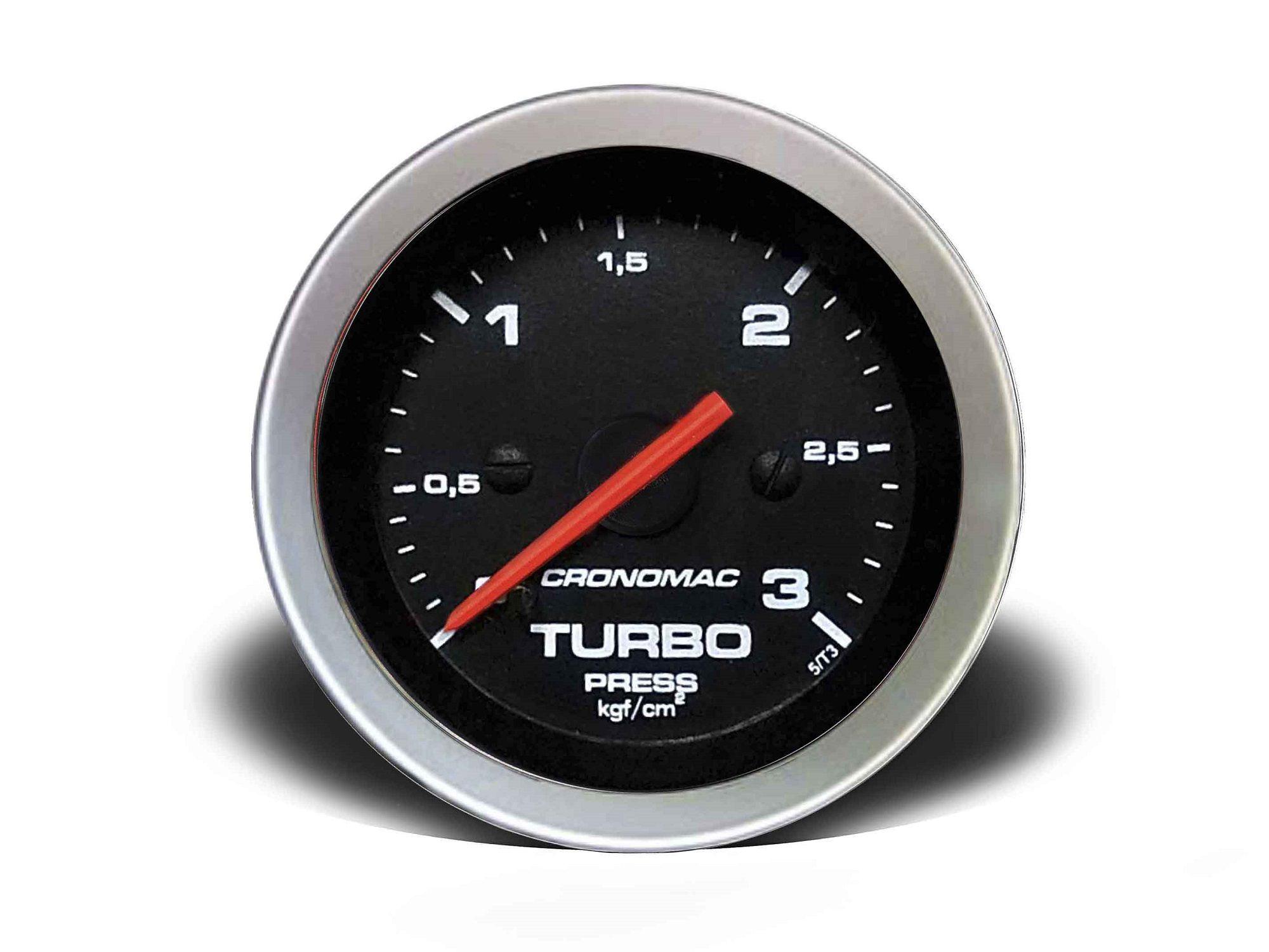 Relogio Pressao de Turbo 3kg Sport 52mm Cronomac