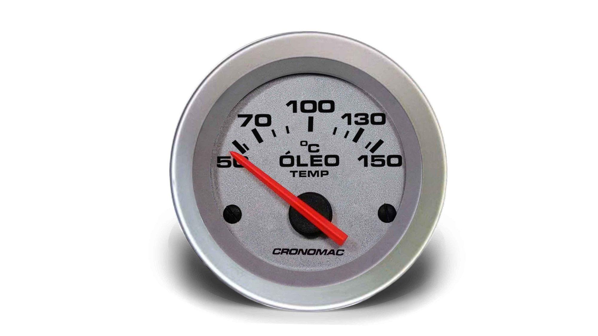 Relogio Temperatura Oleo Eletrico 52mm Racing cronomac