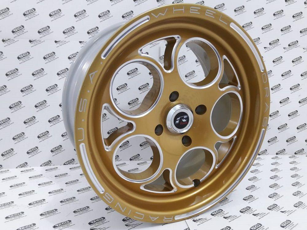 """Roda Replica Magnum Gold 15x4"""" Furação 4x100 (Par)"""