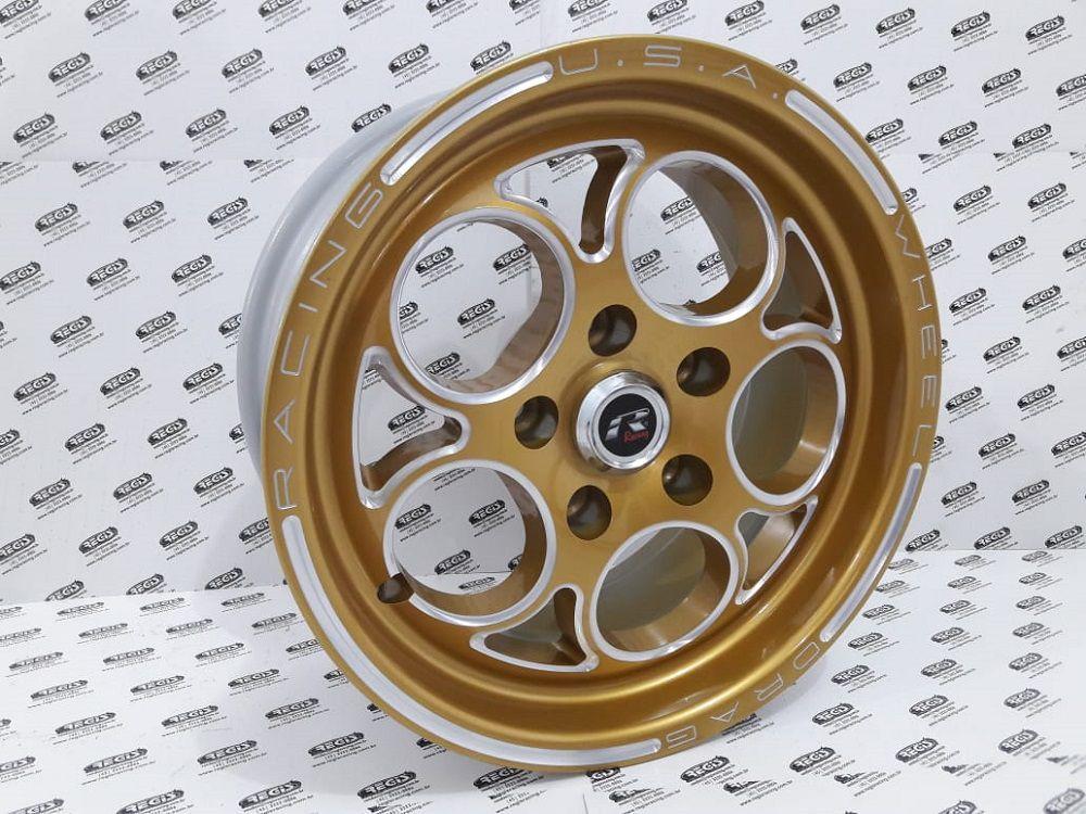 """Roda Replica Magnum Gold 15x4"""" Furação 5x114 (Par)"""