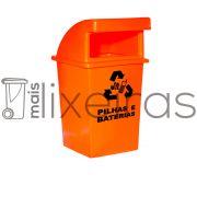 Coletor para pilhas e baterias abertura frontal - 40 litros