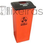 Coletor para pilhas e baterias tampa personalizada - 100 litros