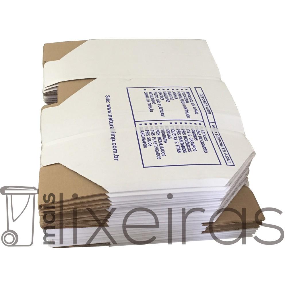 Caixa de papelão coletora tamanho A4 fardo com 25 unidades
