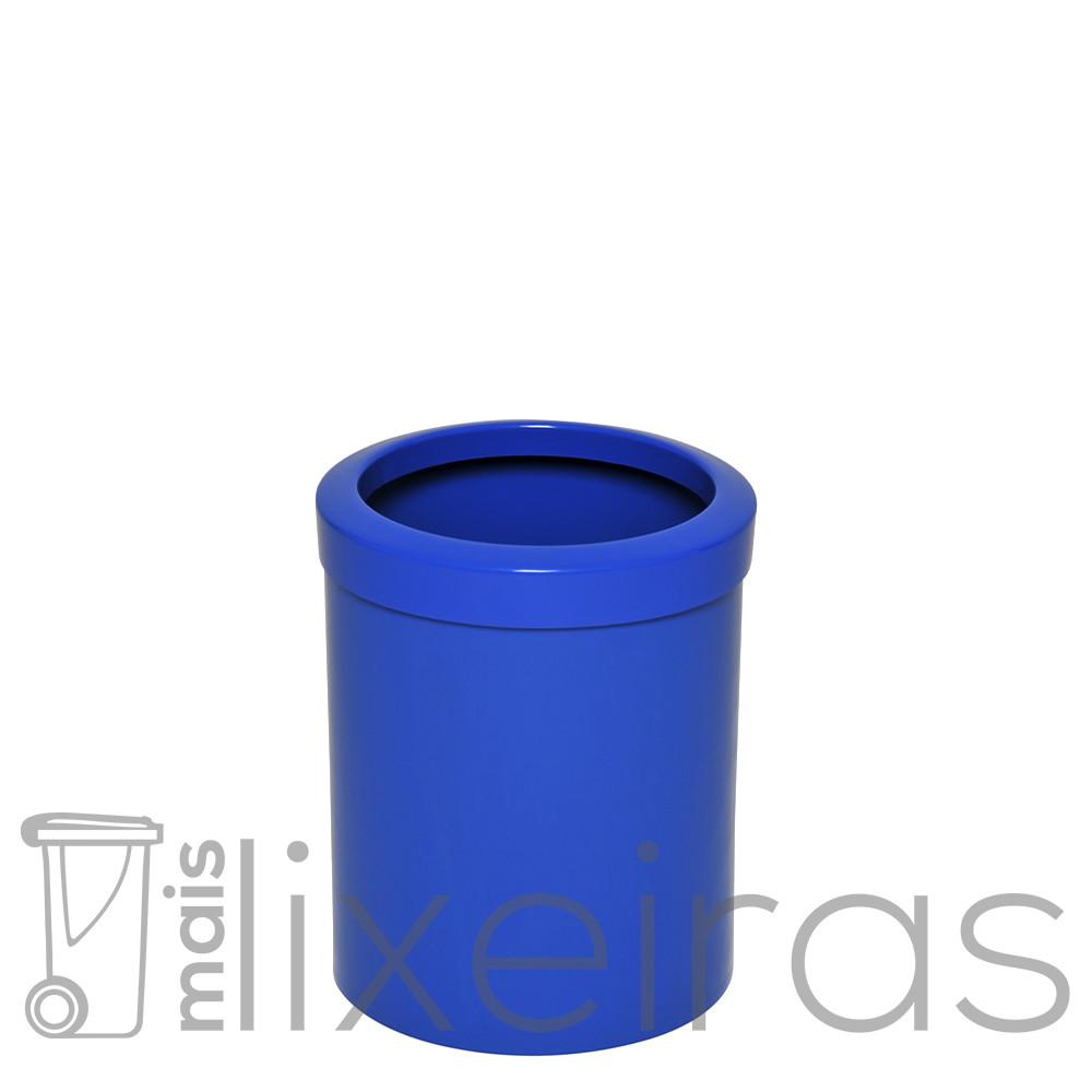 Cesto para lixo pequeno com aro superior - 14 litros