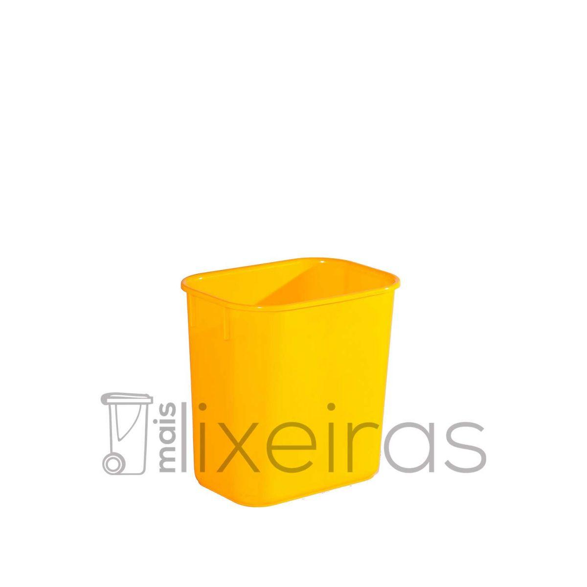Cesto para lixo pequeno retangular - 12 Litros