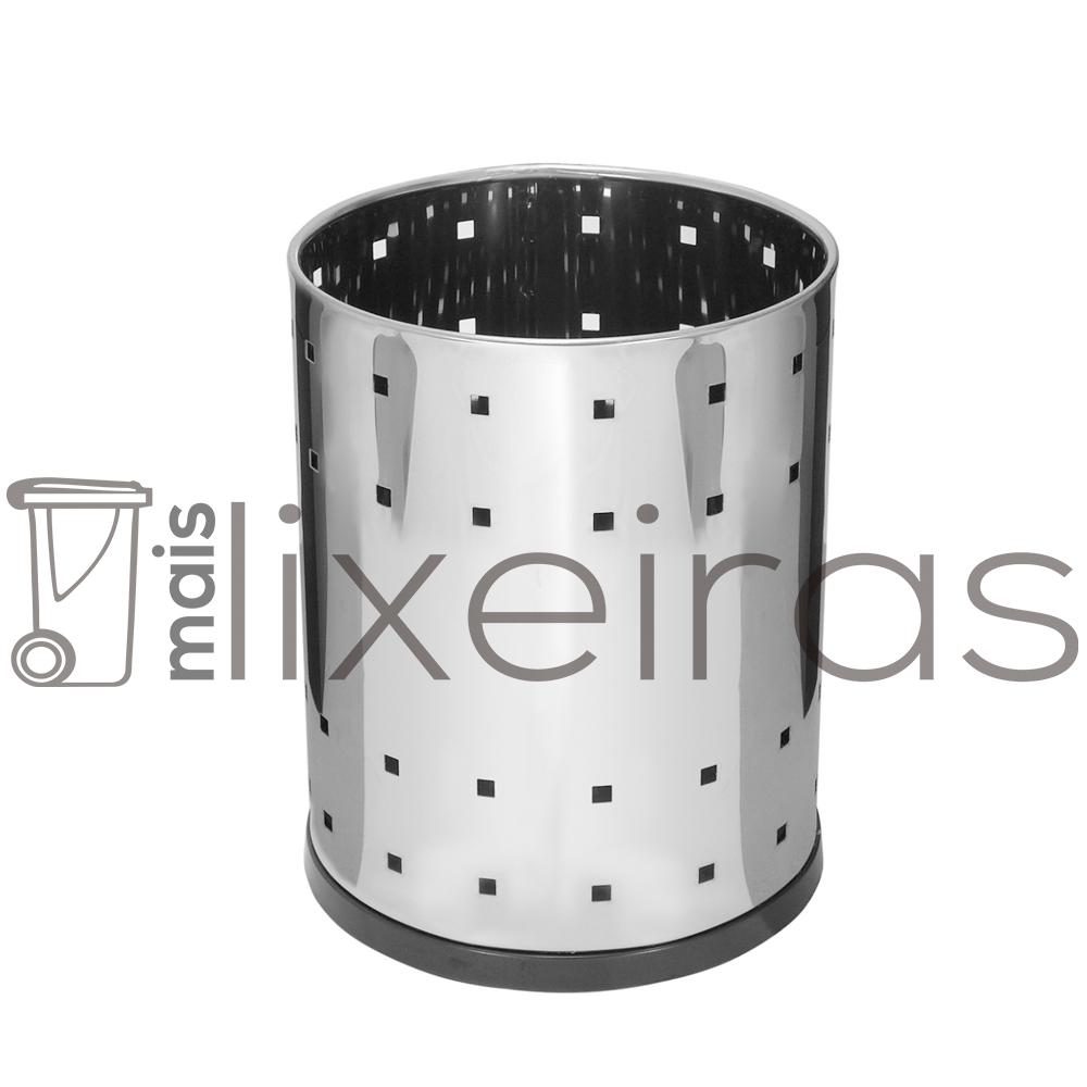 Cesto telado em aço inox - 13 litros
