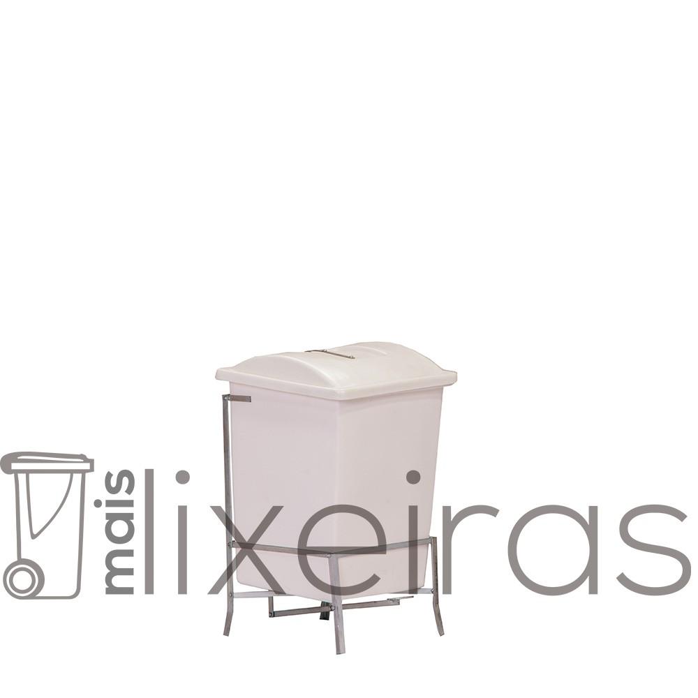 Coletor em polietileno com suporte - 40 litros
