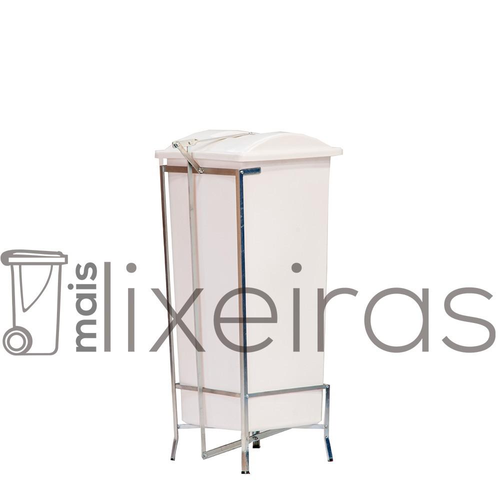 Coletor em polietileno com suporte - 60 litros