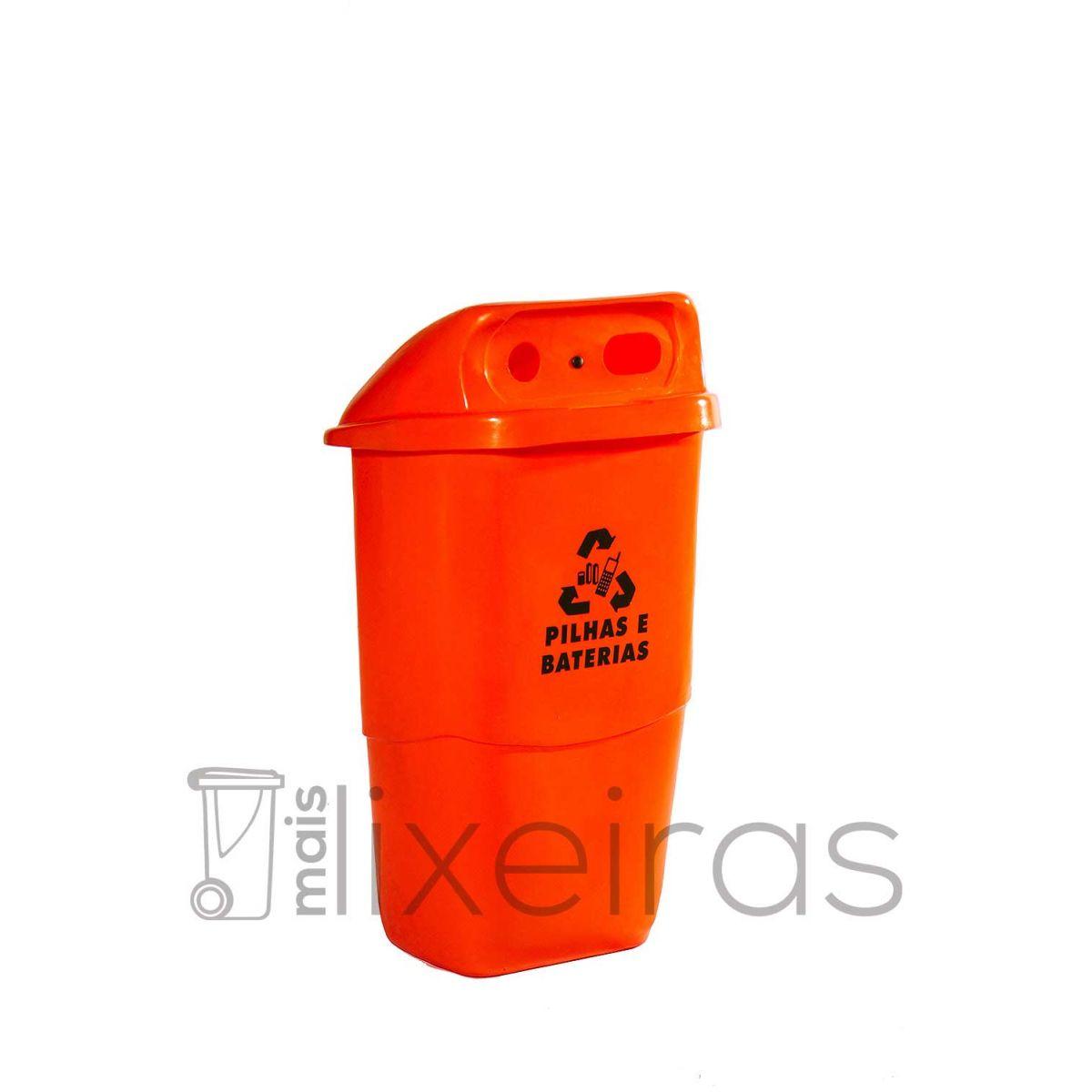 Coletor grande pilhas, baterias e celulares  - 50 litros