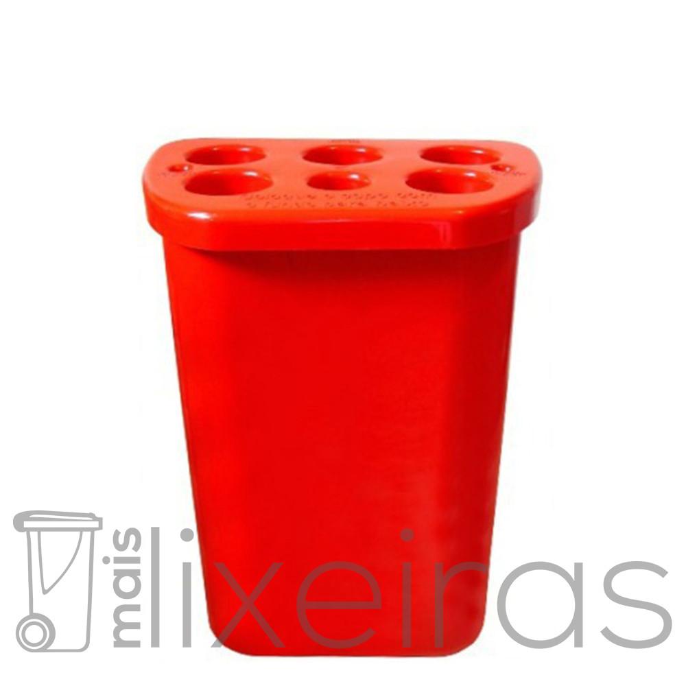 Coletor multiuso para copos descartáveis - Vermelho