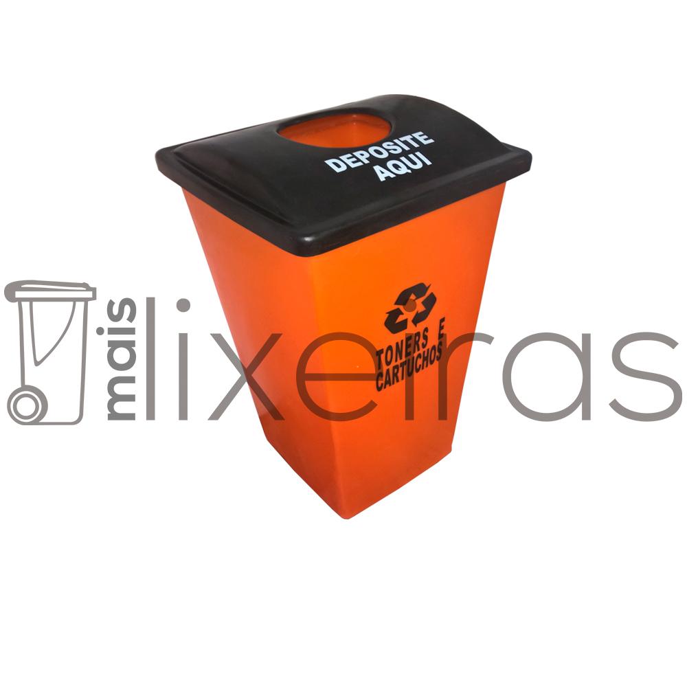 Coletor para cartuchos e toners tampa personalizada - 40 litros