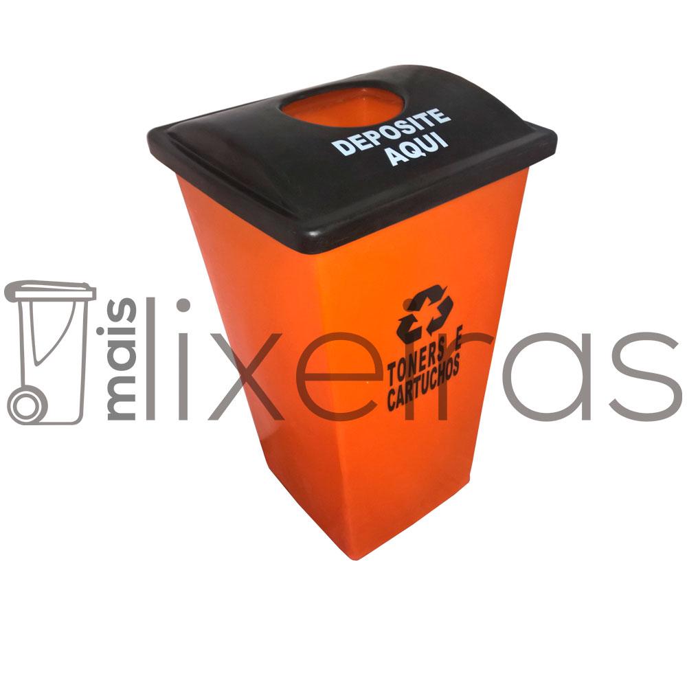 Coletor para cartuchos e toners tampa personalizada - 60 litros
