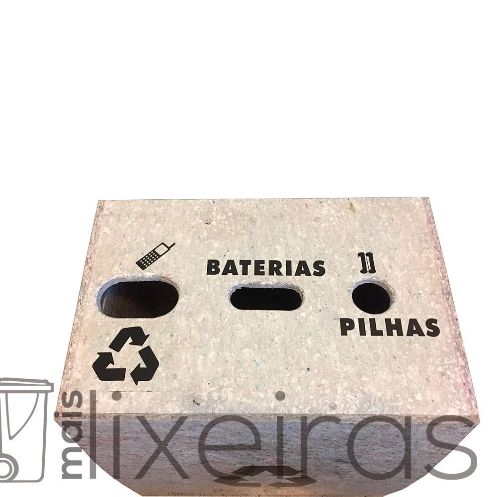 Coletor para pilhas, celulares e baterias modelo ECO - 60 litros