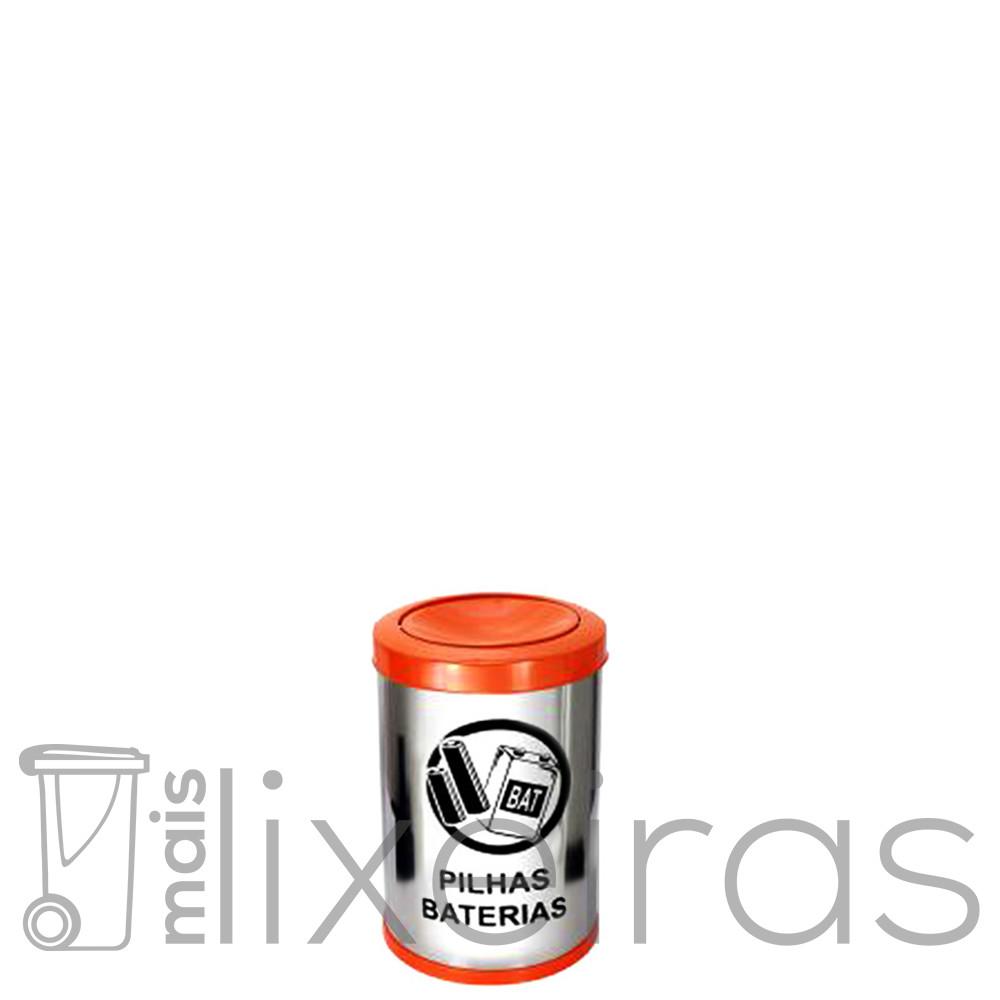 Coletor para pilhas e baterias em inox - 14 litros