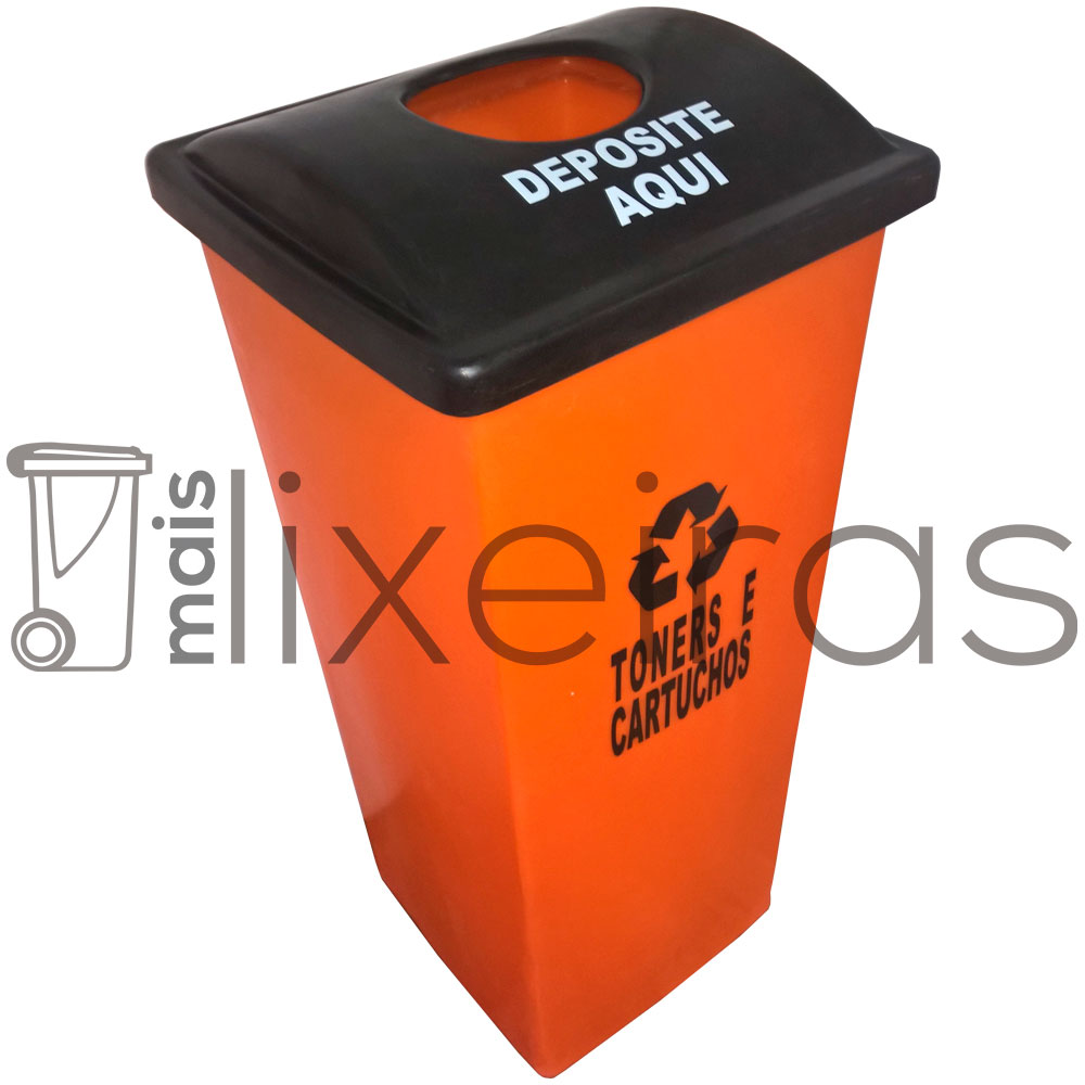 Coletor para cartuchos e toners tampa personalizada - 100 litros