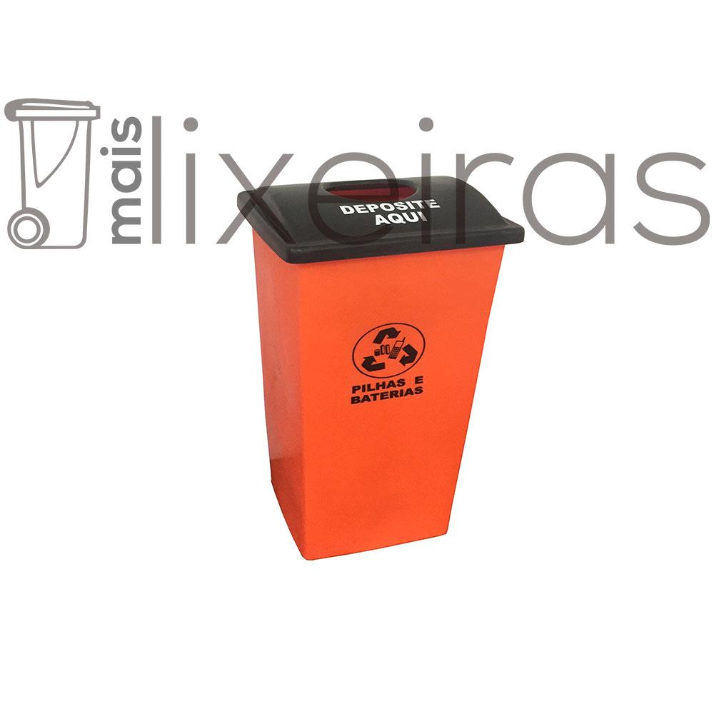 Coletor para pilhas e baterias tampa personalizada - 40 litros
