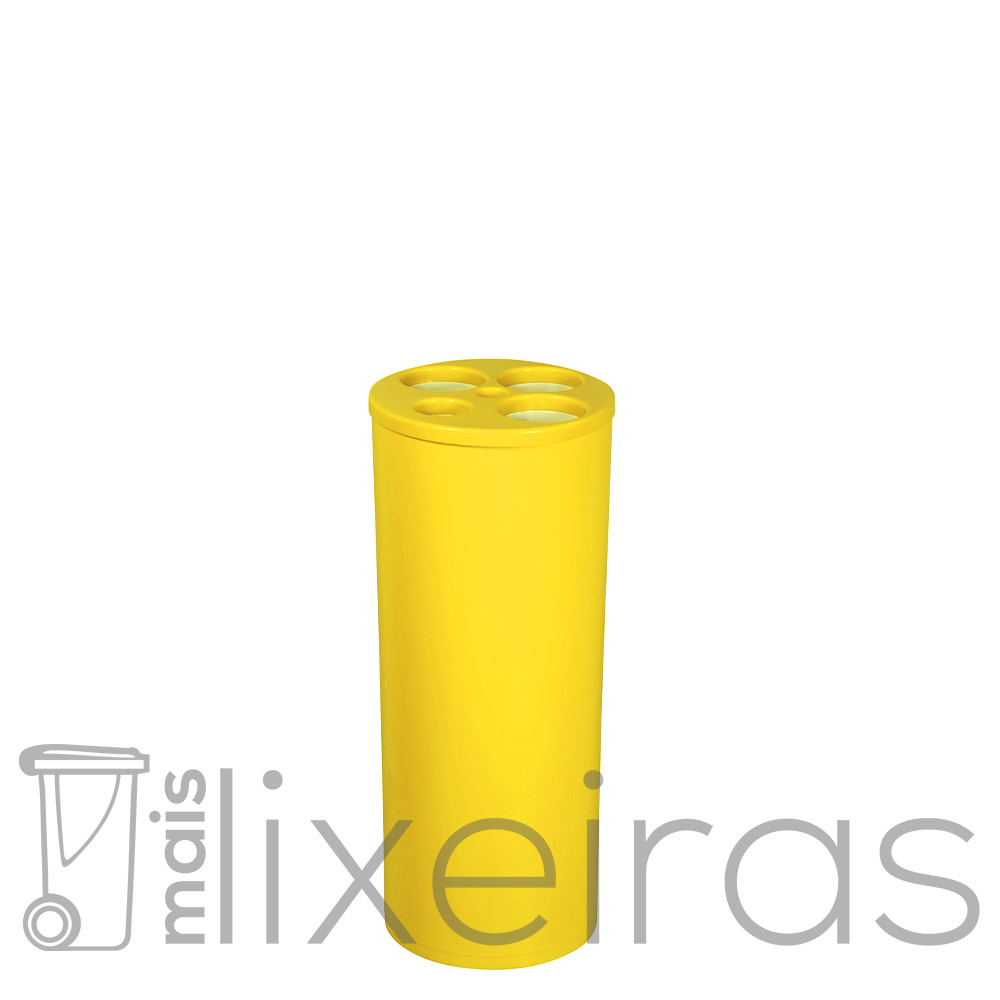 Coletor plástico para copos descartáveis com 5 tubos