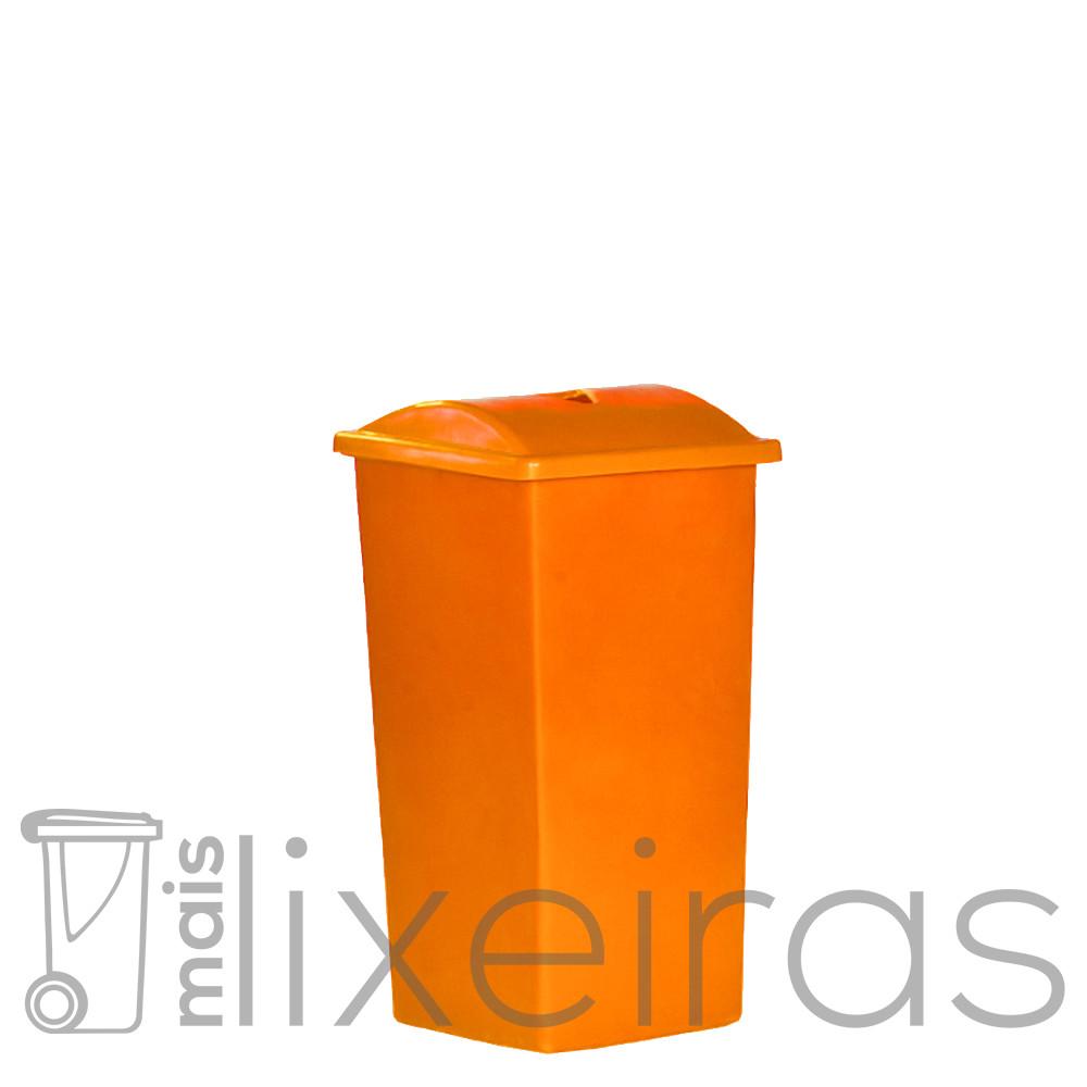 Lixeira 60 litros - tampa com abertura central