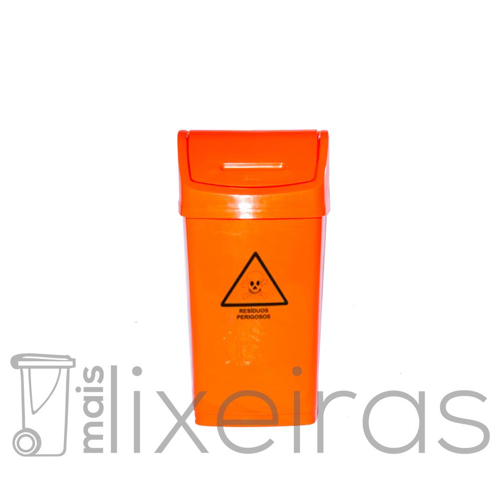 Lixeira colorida com tampa basculante - 50 litros