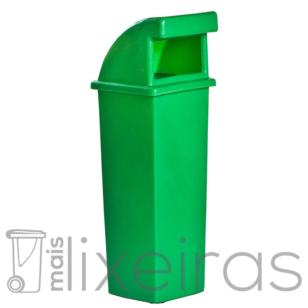 Lixeira com Abertura Frontal 100 litros - Cores da coleta seletiva