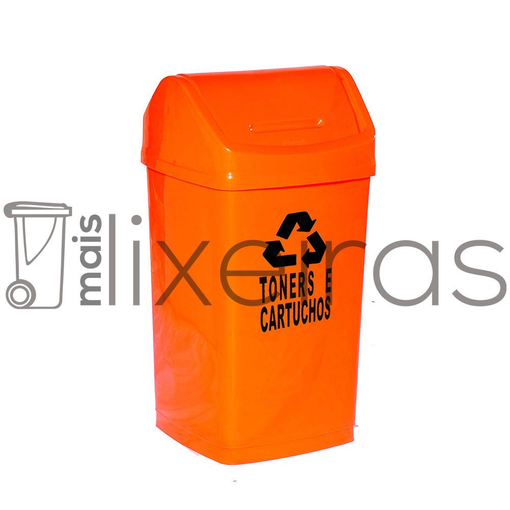 Lixeira com tampa basculante para cartuchos e toners - 50 litros