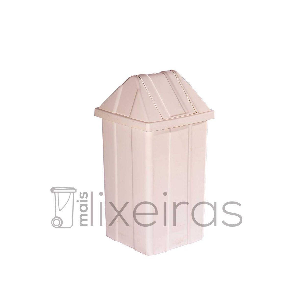 Lixeira com tampa basculante para coleta seletiva - 60 litros