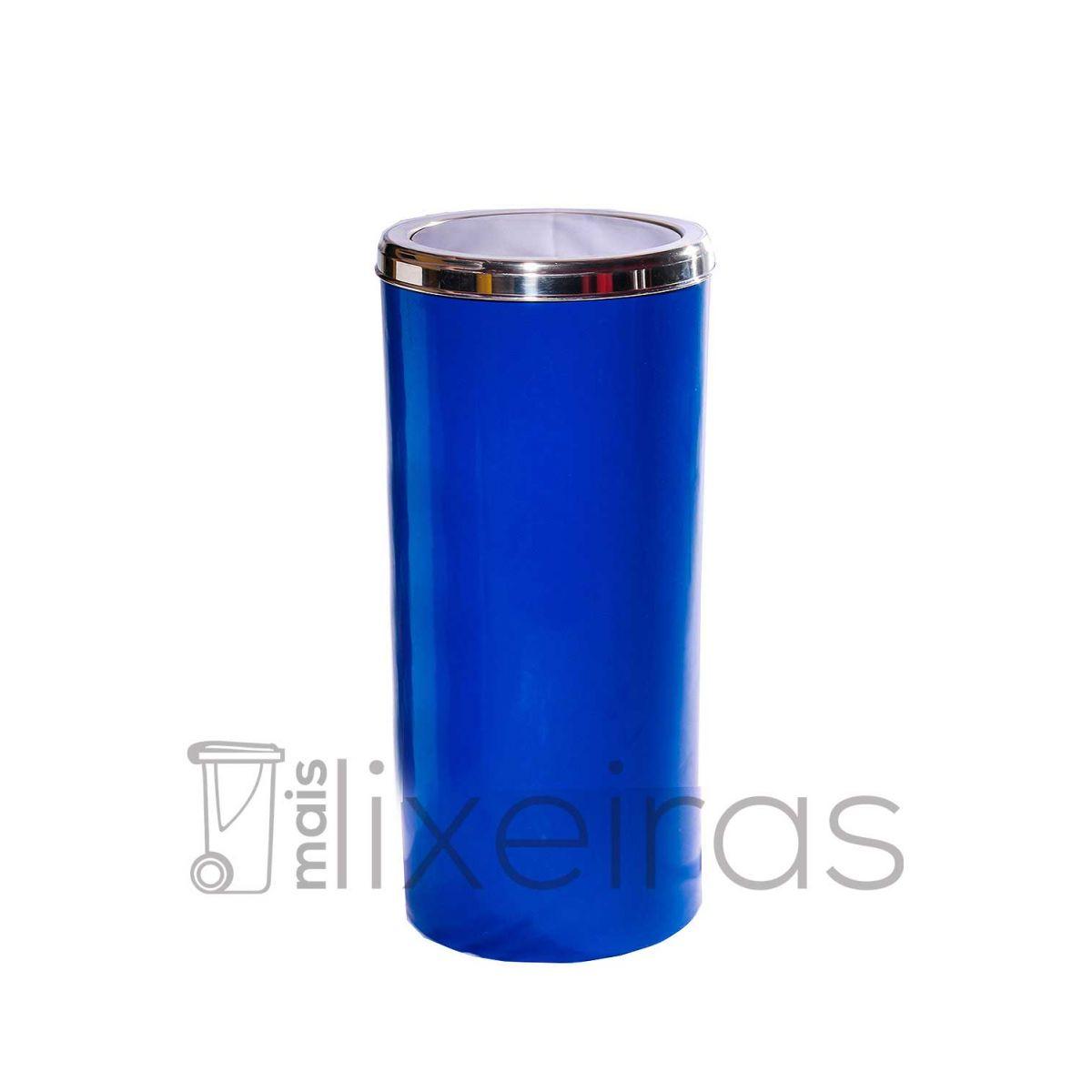 Lixeira com corpo colorido e tampa em aço inox- 25 litros