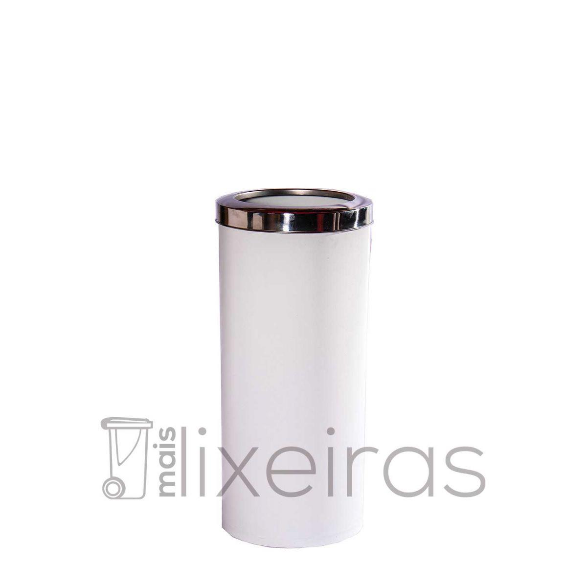 Lixeira plástica colorida com aro inox - 25 litros
