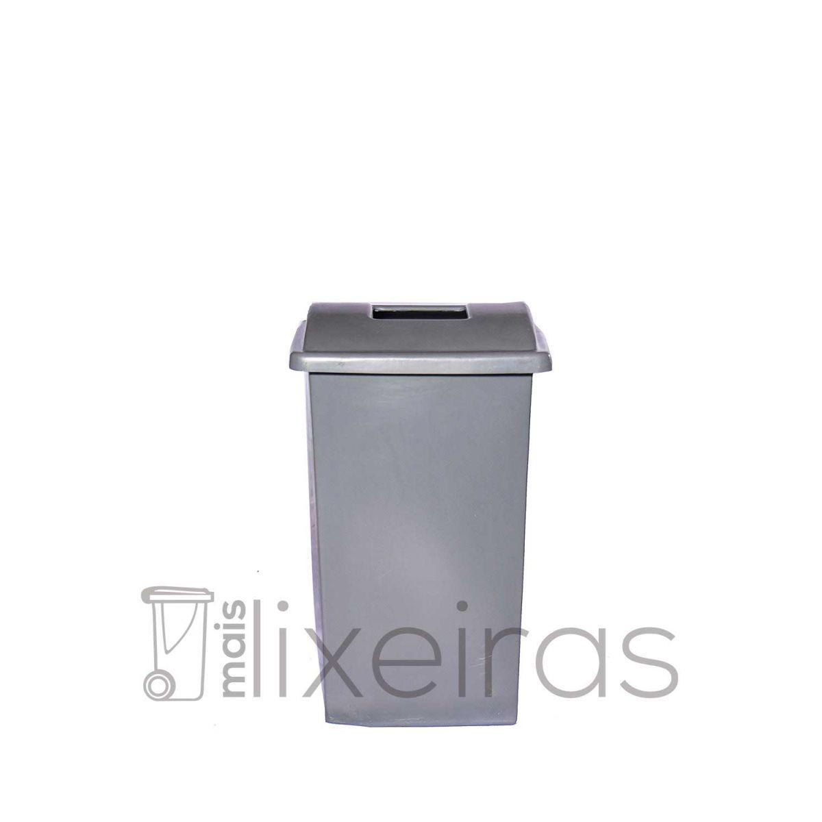 Lixeira grande para coleta seletiva - tampa personalizada - 100 litros
