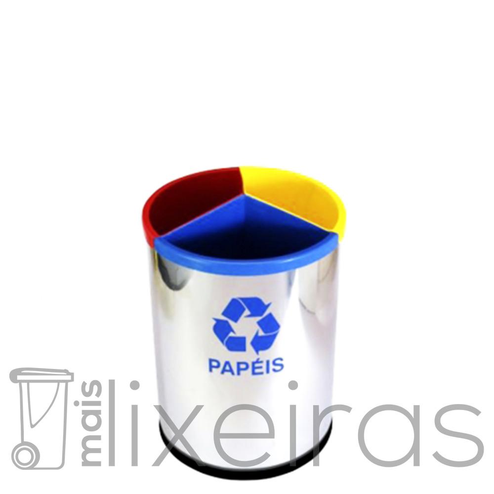 Lixeira Inox 3 em 1 - 30 litros