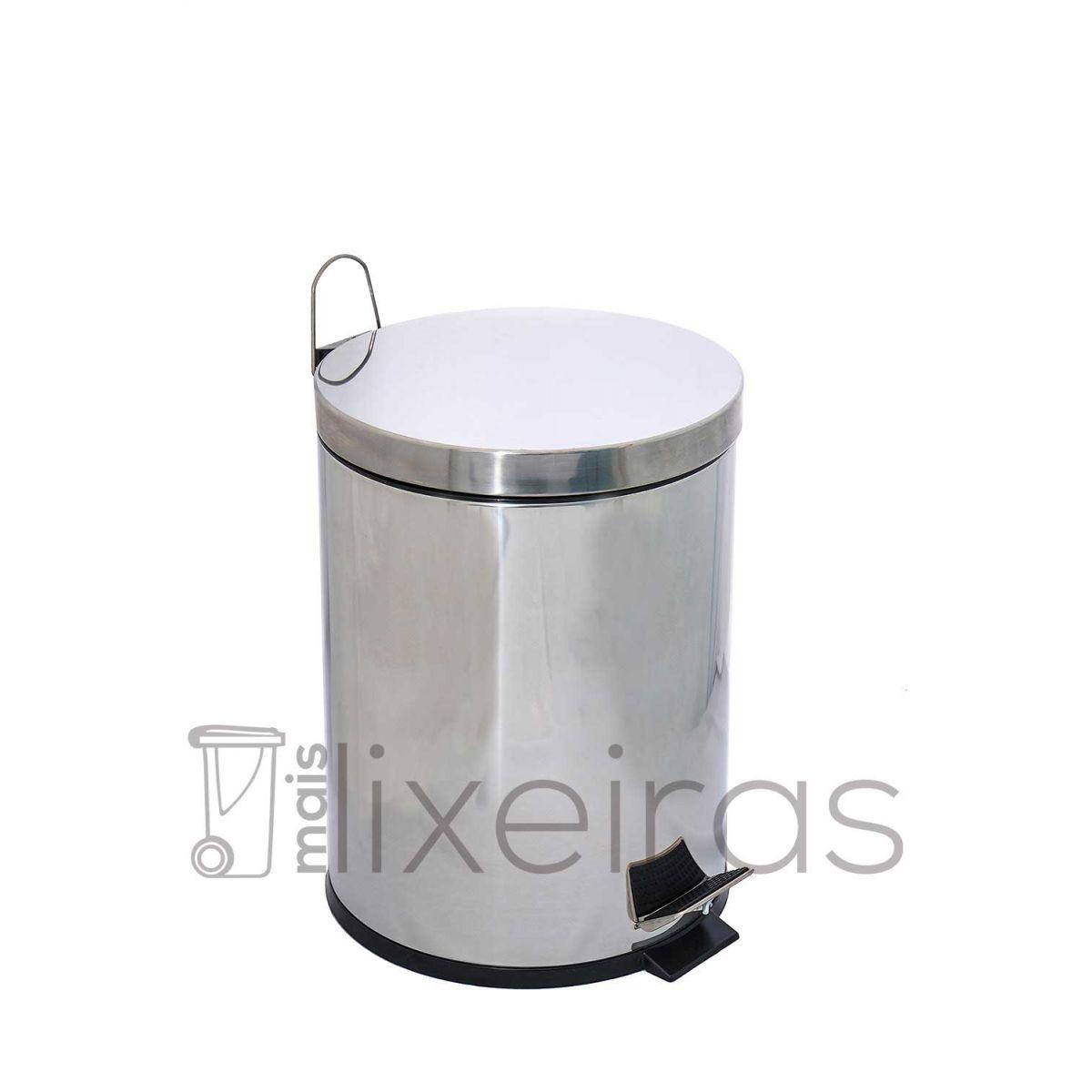 Lixeira inox com tampa e pedal 20 litros