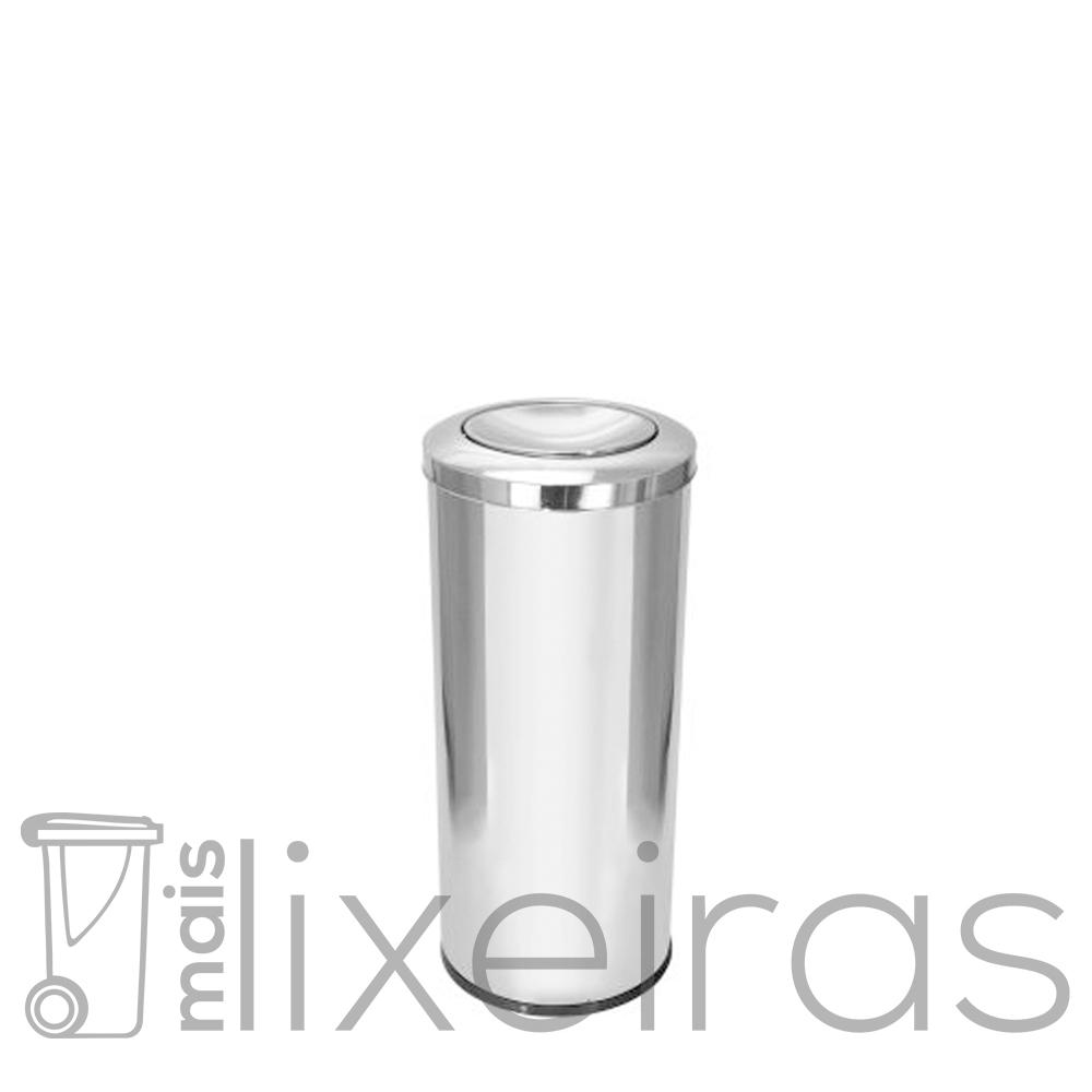 Lixeira Inox com tampa Flip-Top 50 litros