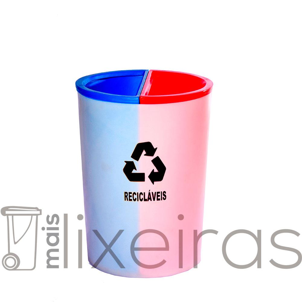 Lixeira MIX com 2 Divisões 50 litros