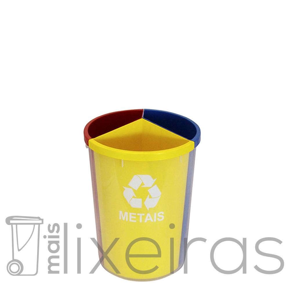 Lixeira plástica 3 em 1 30 litros